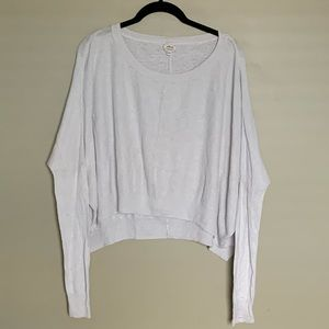 Wilfred cropped slouchy long sleeve crew neck M